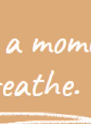 Take a moment to breathe.
