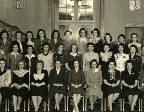 group of women from the 1940s