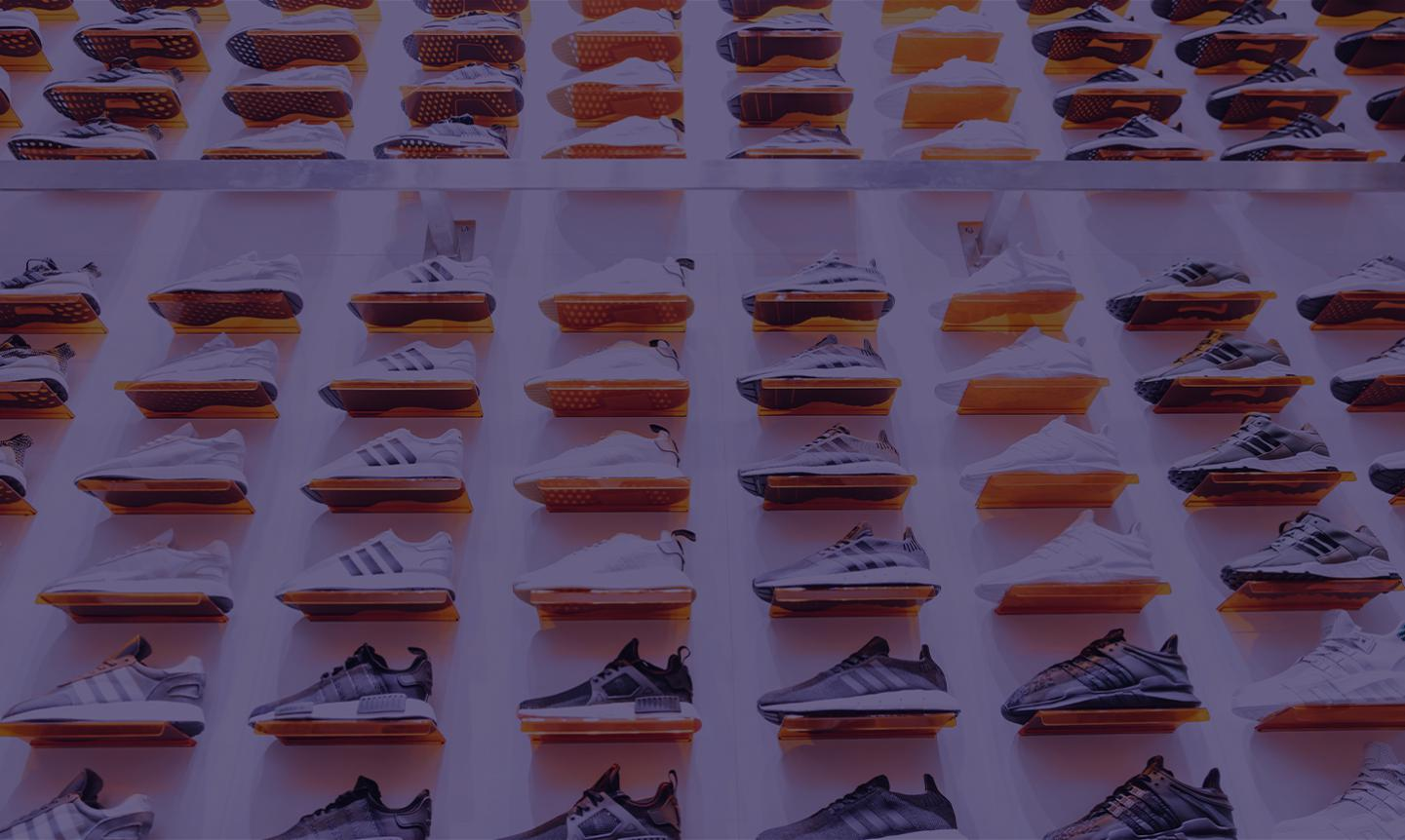 A wall of shoes.